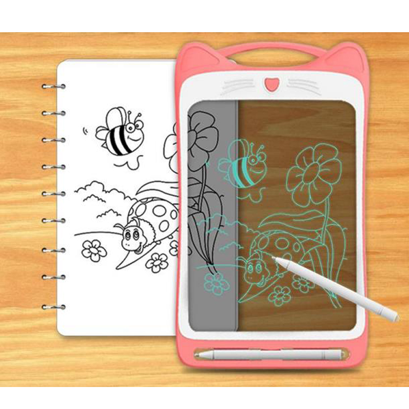 LCD Writing Tablet 12 Inch  Colorful Screen Drawing Stencils Set for Kids Educational Toys  facsimile