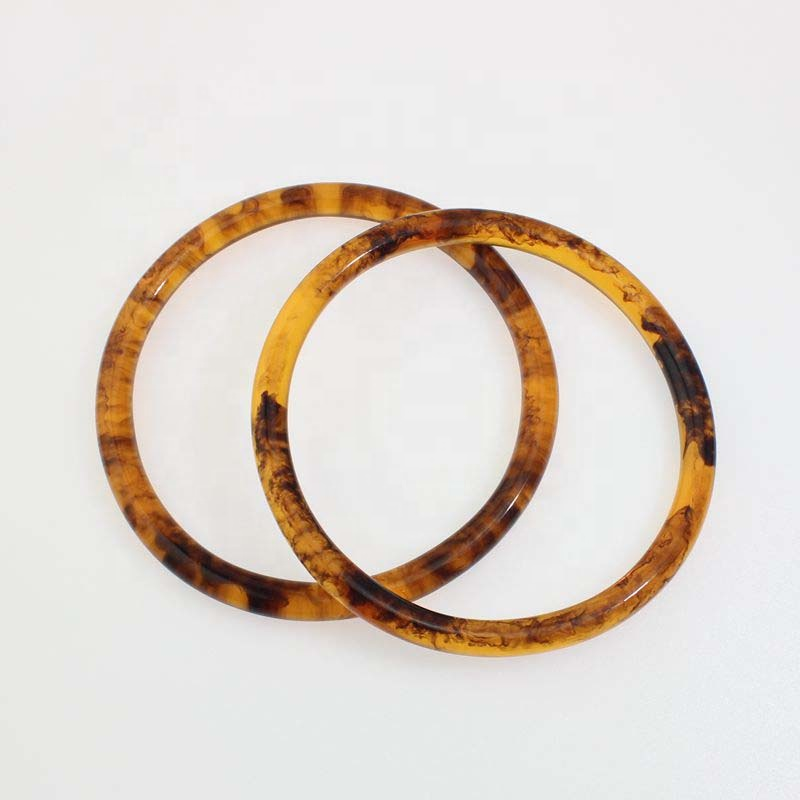 Round Acrylic Bag Handles 12cm