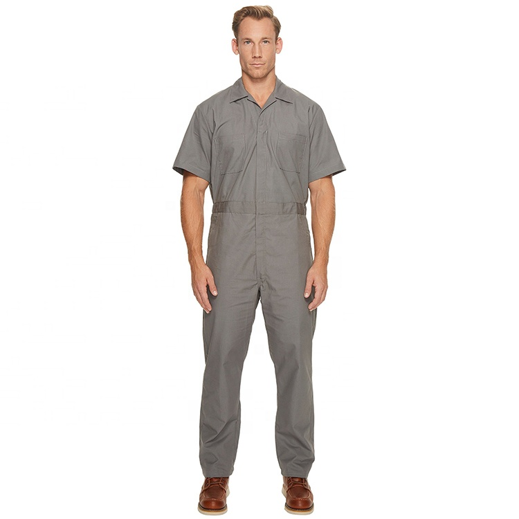 Lightweight Short Sleeved Air Conditioning Prison Uniform Coverall Workshop Coverall Industrial Coverall