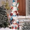 Muñeco de nieve de escultura