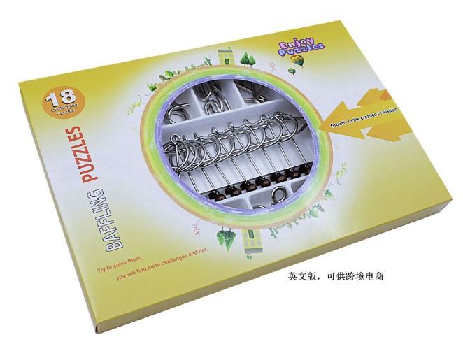 Металлический пазл IQ Wire, головоломка для детей и взрослых, 18 шт./компл.