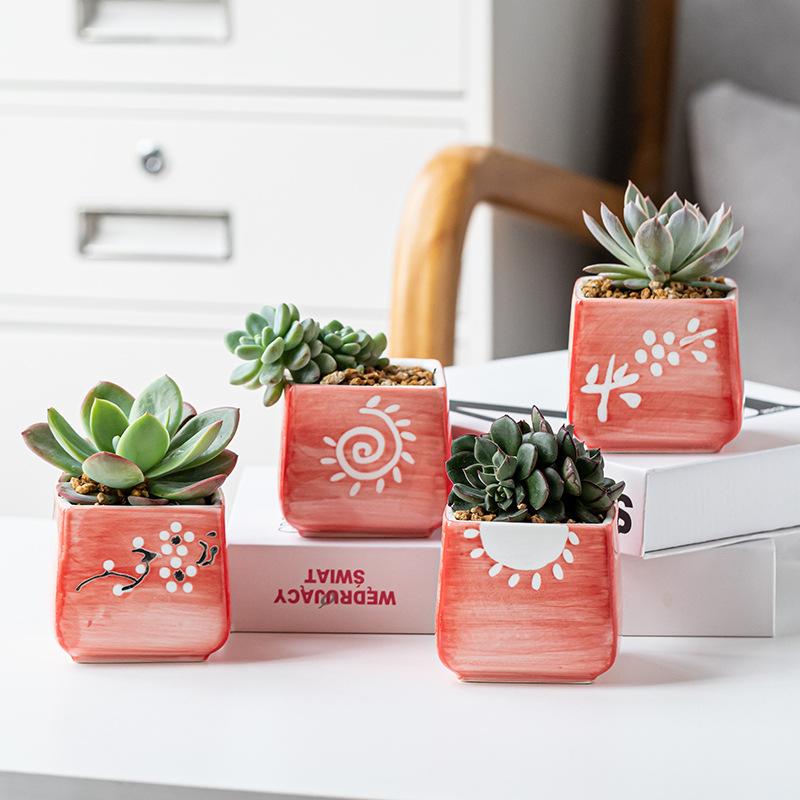 Succulent ceramic pots planter handmade
