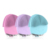 Portable USB Recharging Sonic Vibration Face Cleansing Brush Silicone Waterproof Electric Facial Brush