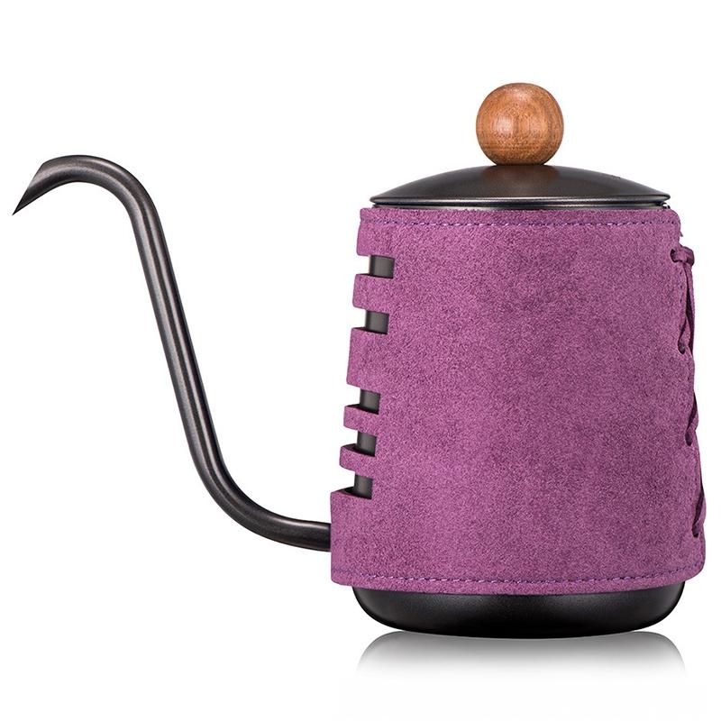 Горячая продажа, нержавеющая сталь, ручная, анти-горячий кофейник, капельный чайник, 0.3л/0.55л, Кофеварка с гусиным носиком, кофейник(Китай)