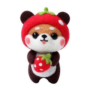 New Style Lovely Shiba Inu Doll Craft DIY Animal Wool Needle Felting Kit for Children Wool Yarn Diy Kit