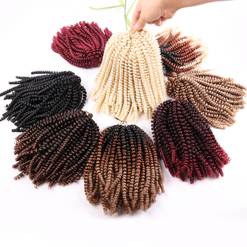 Wholesale Synthetic Spring Twist Crotchet Braids 8 Inch Nubian Hair Products Kenya 12 Inches Spring Twist Braiding Hair