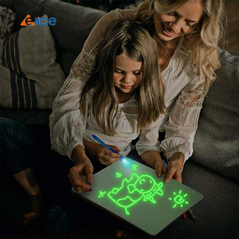 New hot fluorescent children's drawing board A3 A4 A5 educational toy sets Magic light Drawing Board