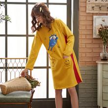 Пижама для женщин Perfering, хлопковая ночная рубашка большого размера с героями мультфильмов(Китай)