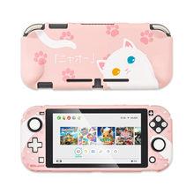 Чехол для Nintendo Switch с милым котиком, полное покрытие, чехол для контроллера Joy-Con, Жесткий Чехол, коробка для Nintendo Switch, аксессуары()