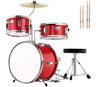 Red 3 pic drum set