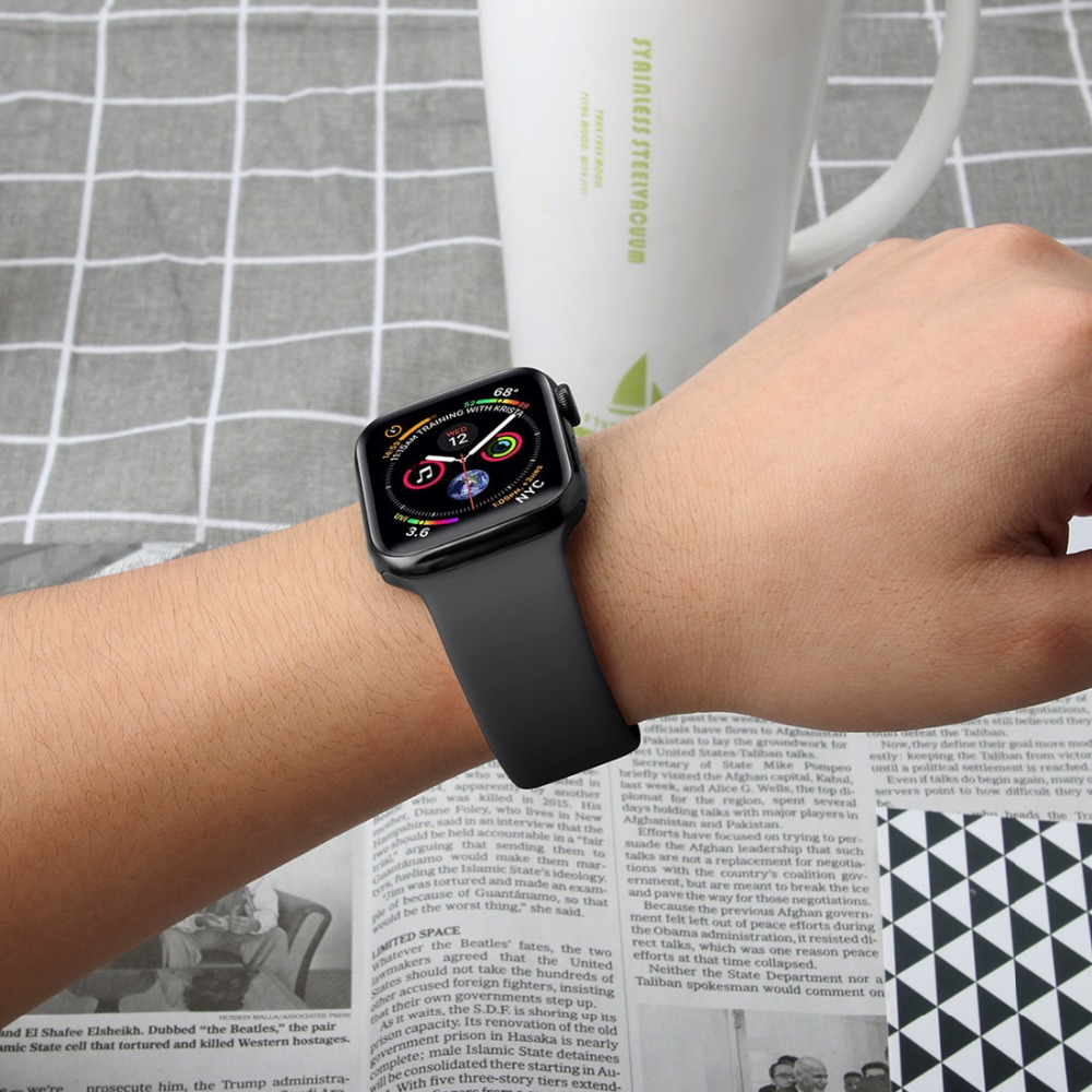 2021 Hot Selling Rubber Silicone Smart watch band For Apple Watch Strap