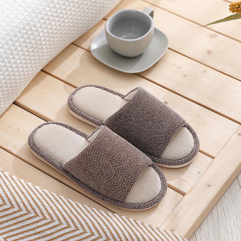 Зимние женские теплые тапочки, однотонные мужские домашние тапочки из хлопка и льна, домашние тапочки, пушистые сланцы