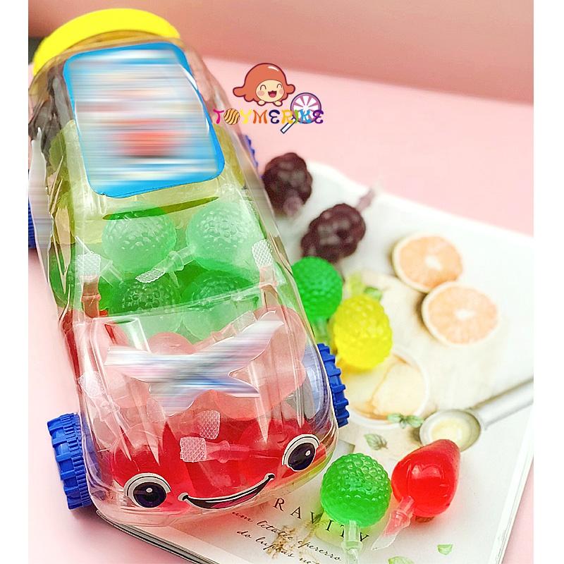 Car Jar Packing Halal Assorted Fruity Flavor Fruit Shape Jelly Drink