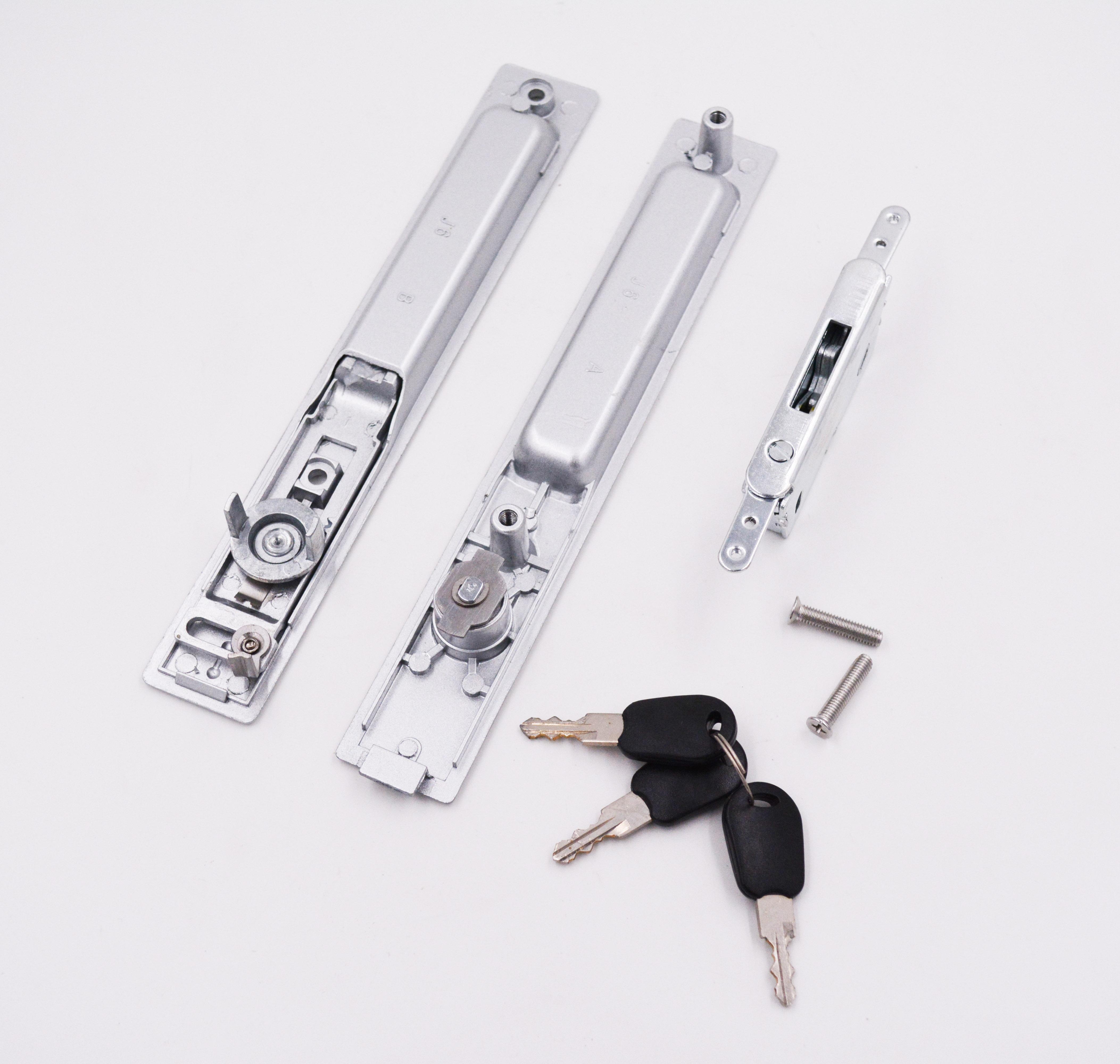 Double Side Aluminium Sliding Window Lock with keys