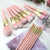 BEILI Pink makeup brushes 15pcs synthetic hair Matte wood handle box packing  private label wholesale custom makeup brush set
