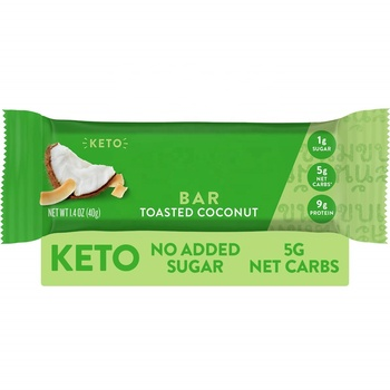 Gluten Free Keto Protein Bars Natural Ketogenic Toasted Coconut Vegan Low Carb Low Sugar