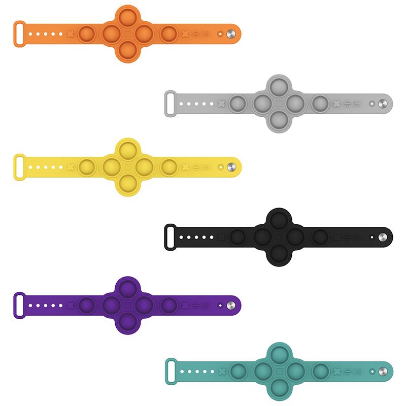 New arrivals silicone push pop fidget toys finger bubble pops it wristband unzip bracelet push it toys