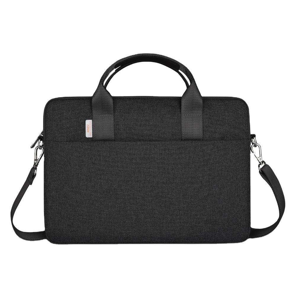 WiWU Laptop Sleeve Bag 15.6 inch Carrying Case Water Resistant Durable Computer Bag Black Grey