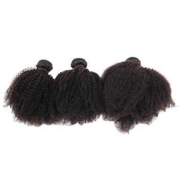 VMAE Mongolian Unprocessed Raw Cuticle Aligned hair Weft Natural Black Afro Kinky Curly 4A 4B 4C Human Hair Extensions