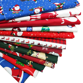 Decoration Printed Christmas Fabric 100% Cotton Twill Fabric Quilting Fabric for Bedding DIY Sewing Patchwork