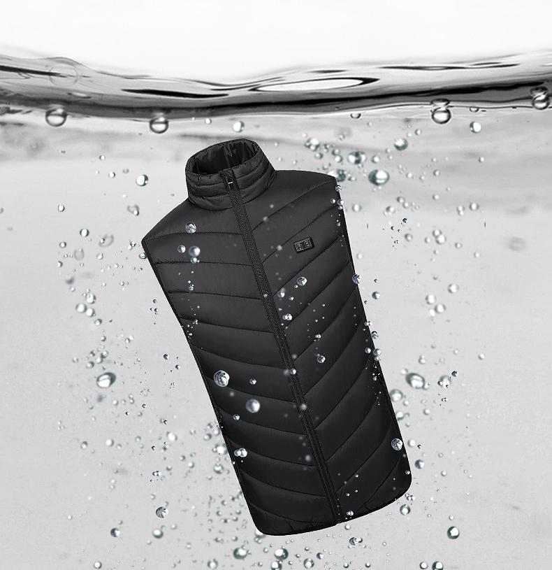 Winter Outdoor Warm Smart Heated Vest Temperature Control Camping Heating Suit Jacket Waterproof USB Charging Fever Vest
