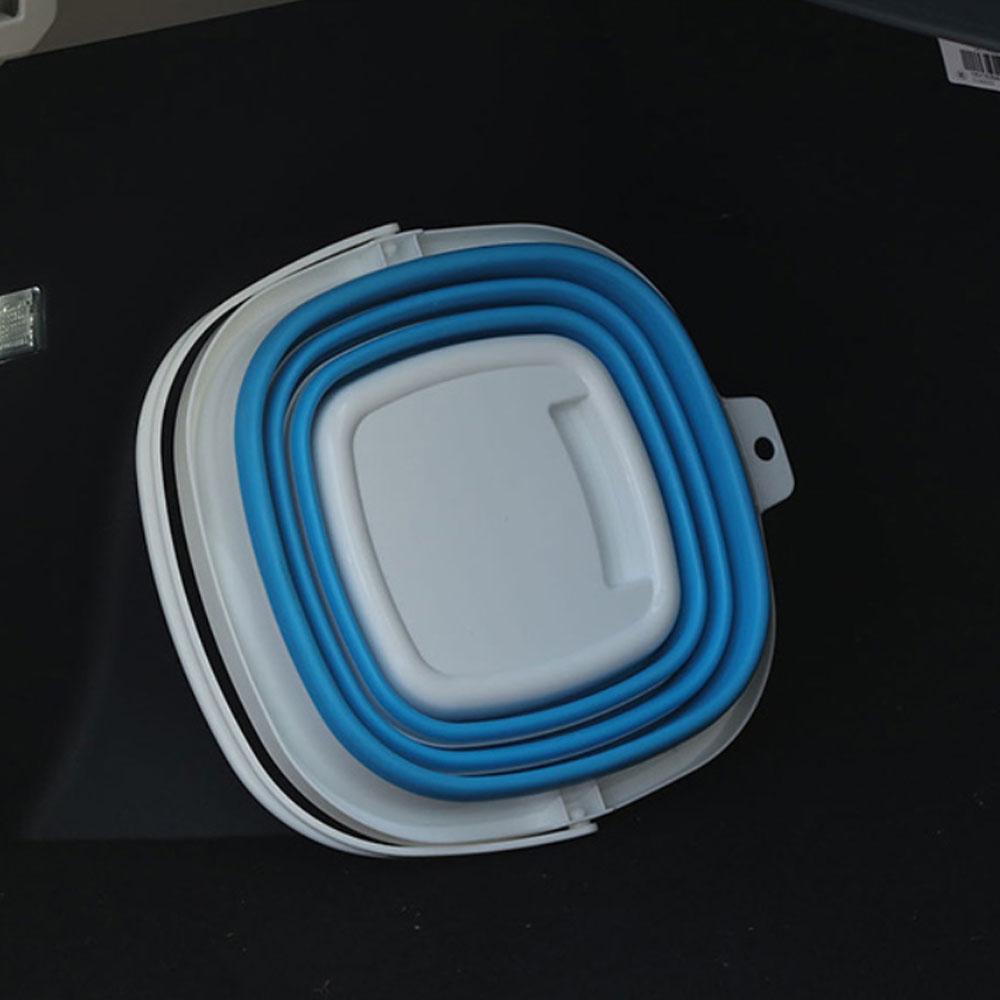 Восточный бытовой портативный большой емкости утолщенный складной автомойки шваброй ведро с трём диски, Открытый Многофункциональный Спорт на открытом воздухе Рыбалка Кемпинг ведро
