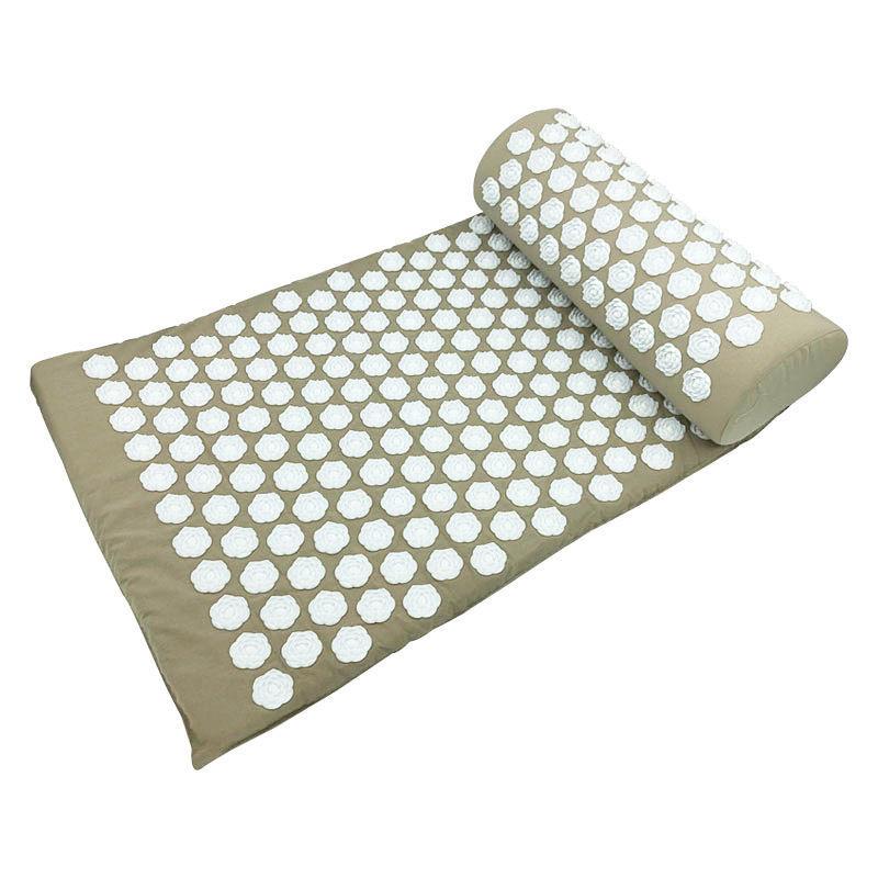 Прямая поставка, коврик для акупрессуры, подушка для массажа головы, шеи, спины, ног, подушка, коврик с шипами для йоги, иглоукалывающий массажер против стресса
