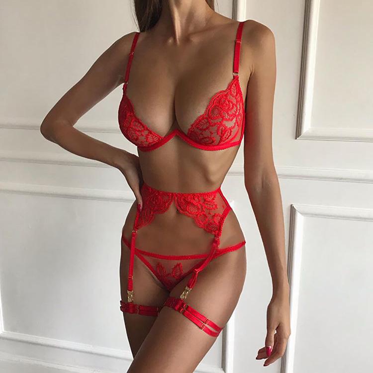 Женское романтичное белье универсальный массажер с насадками