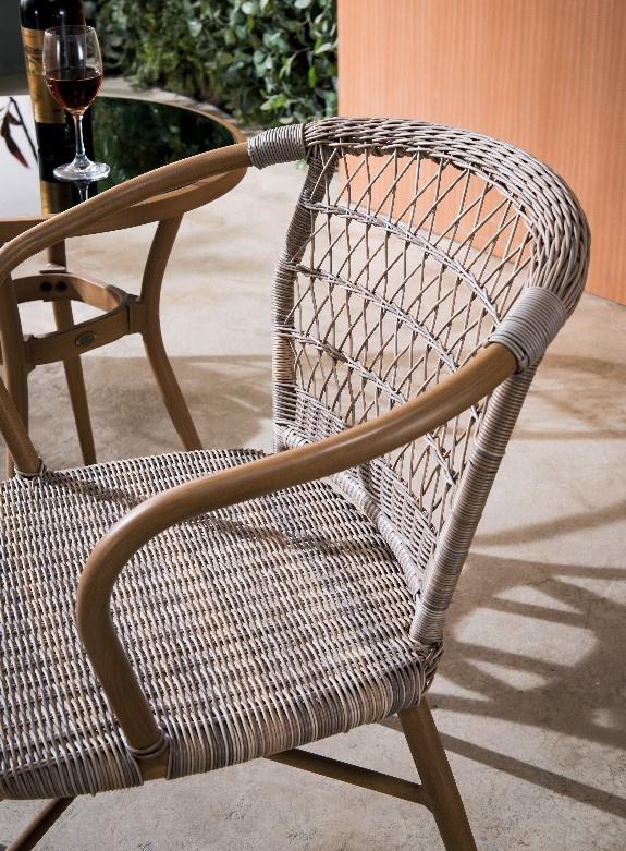 cafe PE wicker chair for outdoor garden rattan chair