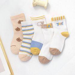 Children's middle tube socks thin pure cotton mesh lace cartoon breathable threedimensional baby socks