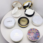 Case Powder Compact WH-120A White Gold Empty Air Cushion Loose Powder Foundation Compact Case