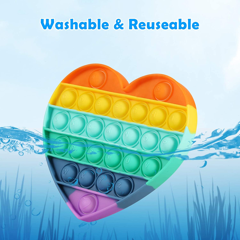 Amazon Best Selling Rainbow Fidget Sensory Toy Fidget Simple Dimple Stress Push Fidget Toys For Kids