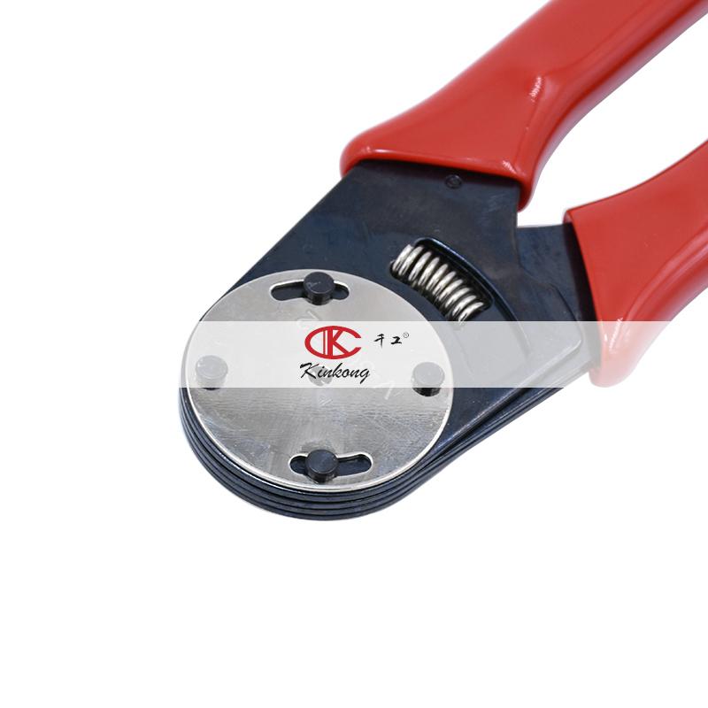 Kinkong закрытый цилиндр твердый Терминал контактный обжимной инструмент 12/16/18/20AWG ручной обжим DT коннектор инструмент