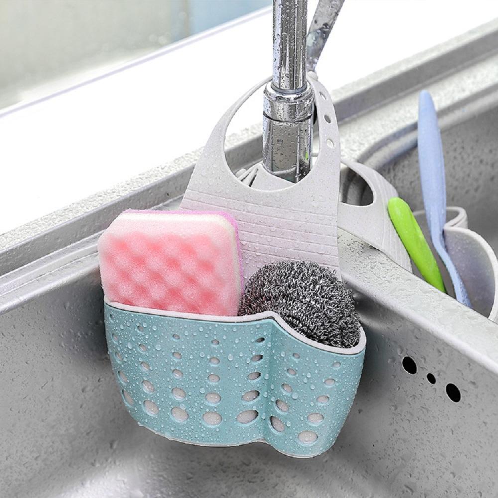 Двухъярусный кухонный держатель для слива губки, сумка, стеллаж для хранения, корзина для губки, мытья посуды, туалетного мыла, зубной щетки, полка-Органайзер
