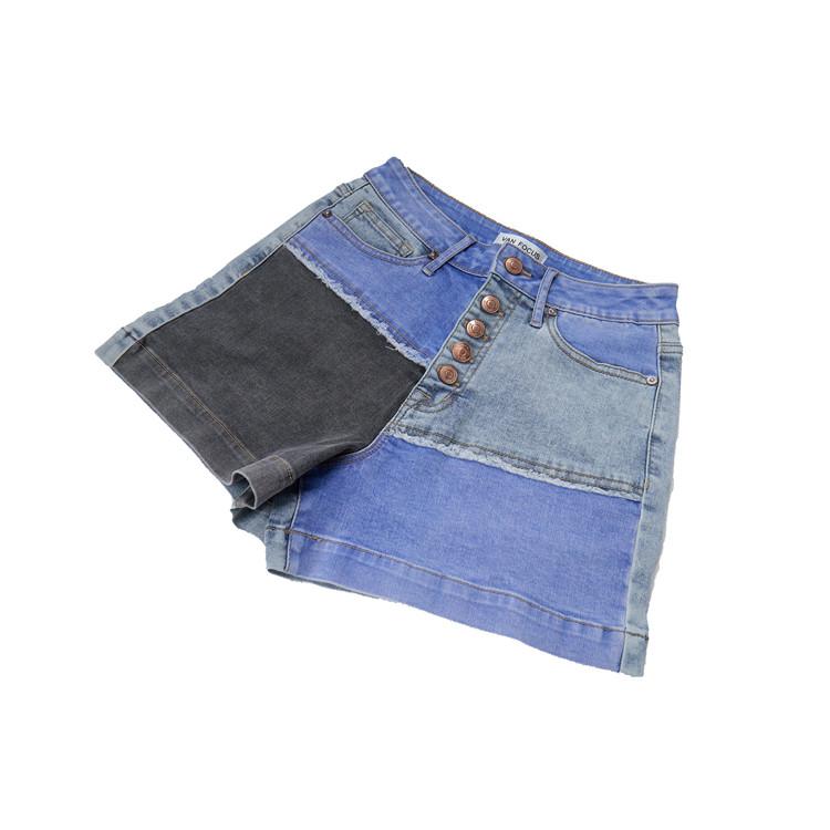 Pantalones Cortos De Mezclilla De Cintura Media Para Mujer Pantalones Cortos Rectos Con Punos Sueltos Buy Pantalones Vaqueros Para Mujer Tela De Jeans Jeans Personalizados Para Mujer Product On Alibaba Com