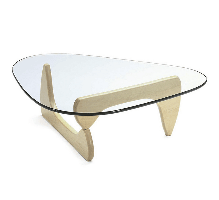 Glass Acrylic Living Room Solid Wood Toughened Glass Tea Table Coffee Table