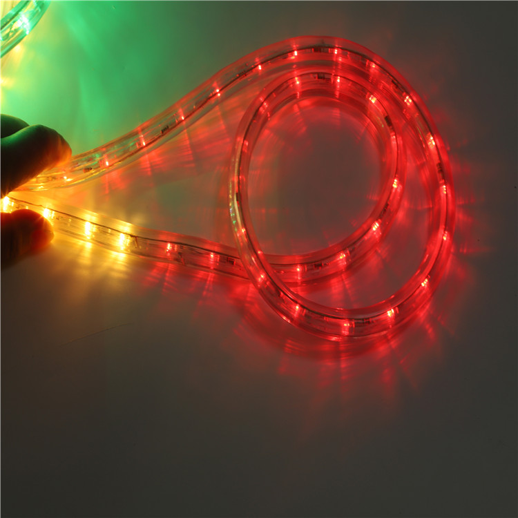 Рождественский светодиодный веревочный светильник, меняющий цвет, 100 метров, светодиодный уличный водонепроницаемый тематический парк, украшение 13 мм
