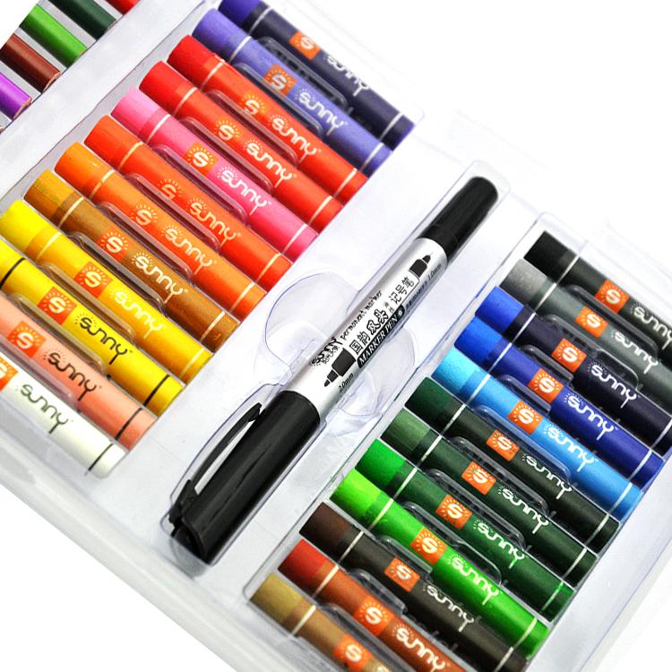 Оптовая продажа, китайские школьные канцелярские принадлежности для рисования детей (карандаш, ластик, точилка, ручка водного цвета, масляная пастель, кисть, гуашь)