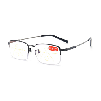 Good Quality titanium flexible anti blue light multi focus adjustable reading glasses