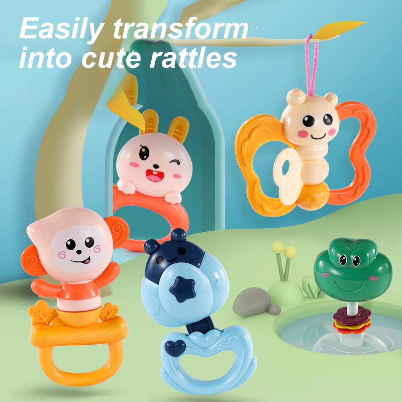 Amazon Newborn Electric Animal Rotation Hanging Bed Bell Toy Set Baby Plastic Remote Control Crib Cot Musical Bed Bell For Gift