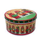 Biscuit High Quality Round Chocolate Cookie Biscuit Tube Tin Box