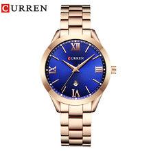 От CURREN, мужские золотые часы Для женщин часы дамы Творческий Сталь Для женщин браслет часы женские часы Relogio Feminino Montre Femme(Китай)