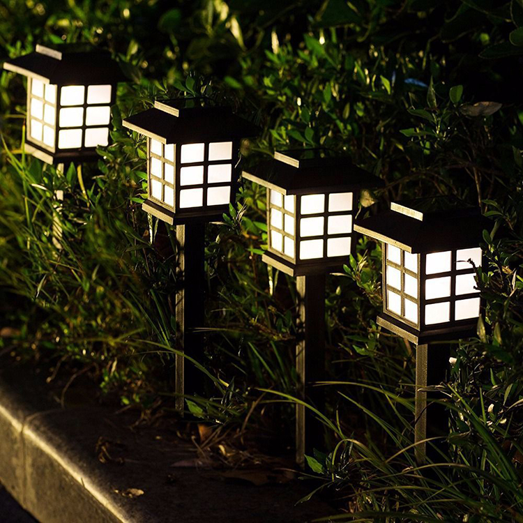 YJN5445 уличная дешевая Водонепроницаемая декоративная солнечная панель для дома, газона, светодиодные садовые фонари