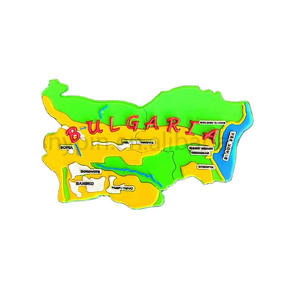 hot sale national yellow color Soft PVC country shaped high quality travelling souvenir gifts custom fridge magnet