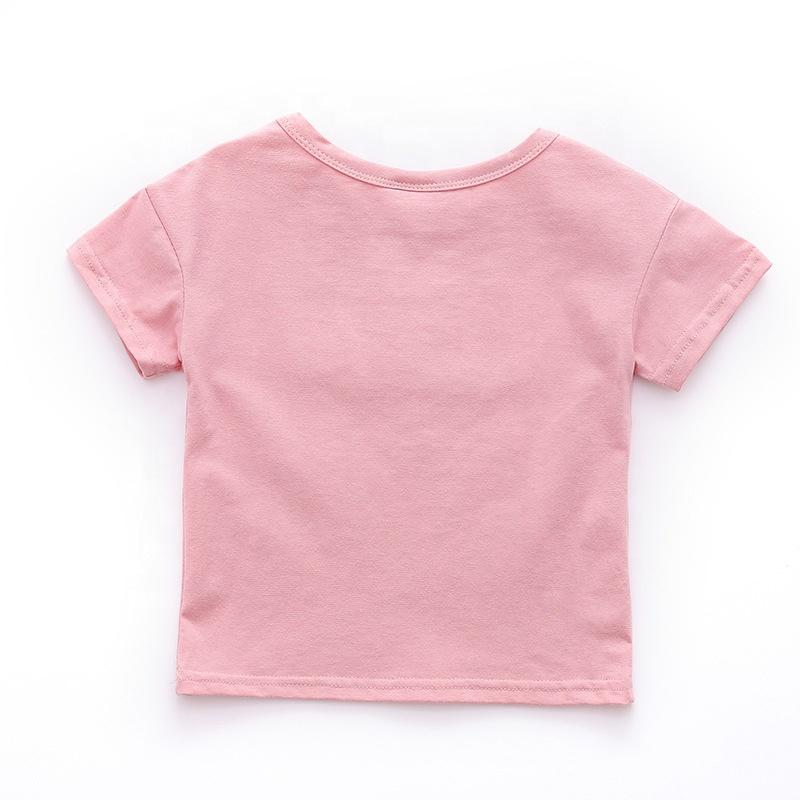 B40723A 2021 летняя простая футболка для маленьких мальчиков и девочек, Повседневная хлопковая Мягкая футболка с коротким рукавом