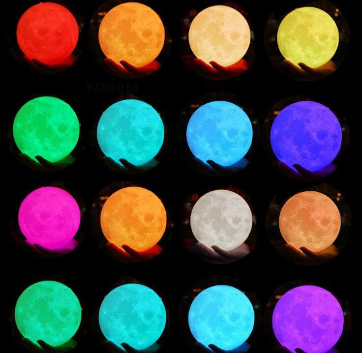 YJN5403 Рождественский умный датчик, пользовательский Детский 3d светильник, светодиодный ночник в виде Луны