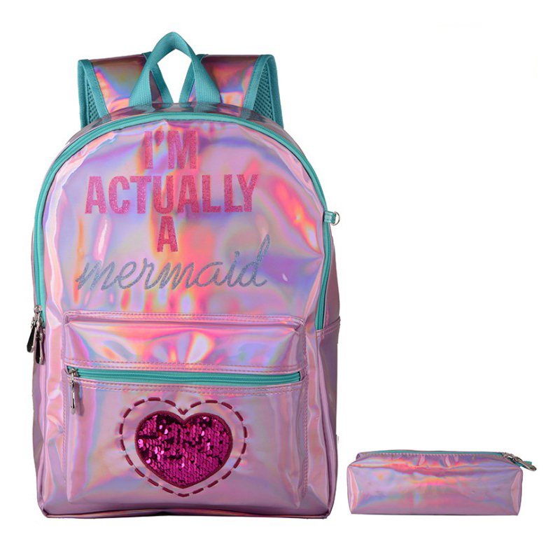 School bags for girls backpack Hot sale new design Large Capacity waterproof Durable School laser Backpack Bag