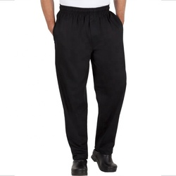Кухонная Униформа cook, мужские черно-белые клетчатые штаны шеф-повара с эластичным поясом