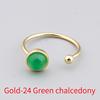Gold-24 Green chalcedony