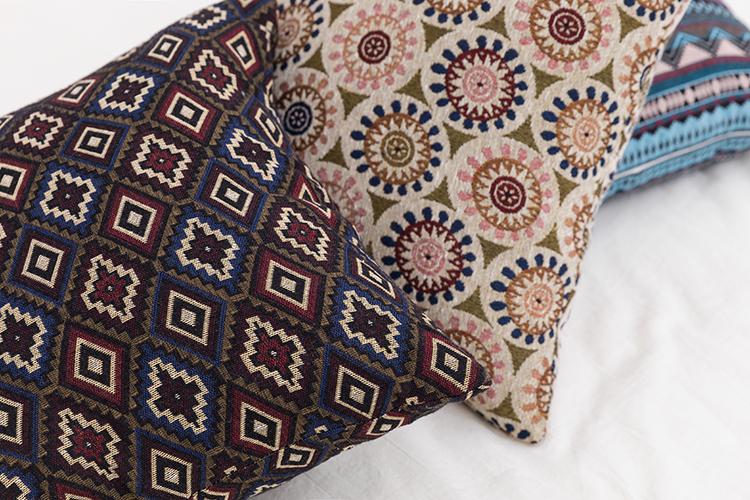 New design bohemia mandala chenille jacquard cushion for home decor
